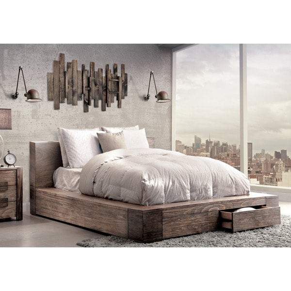 Furniture of America Shaylen II Rustic Natural Tone Storage Bed. Opens flyout.