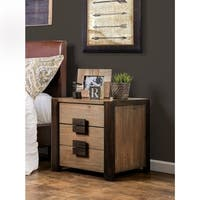 Shaylen Rustic Natural Tone 2-drawer Nightstand by FOA