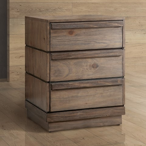 Furniture of America Emallson Rustic Natural Tone 3-drawer Nightstand