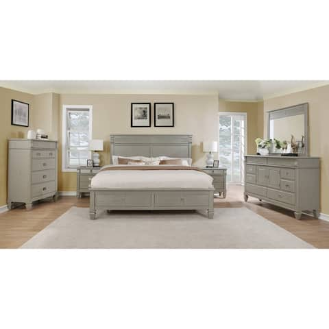 The Gray Barn Barish Solid Wood Construction Bedroom Set with Queen-size Bed