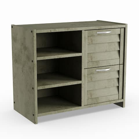 Taylor & Olive Griggs Antique Grey 2-drawer Chest