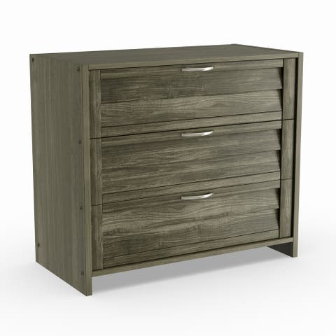 Taylor & Olive Dardanelle Antique Grey 3-drawer Chest