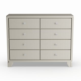 Silver Orchid Carew Contemporary Champagne Silver Finish Wood 8-drawer Dresser