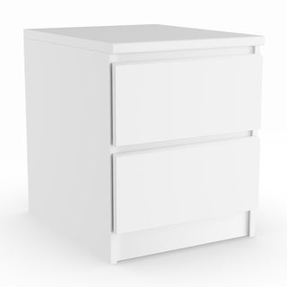 Porch & Den Kern McKellingon White Wood Grain 2-drawer Nightstand