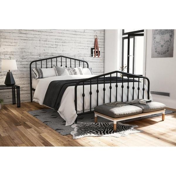 The Gray Barn Latigo Metal Platform Bed. Opens flyout.