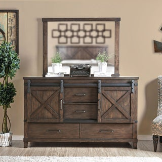 The Gray Barn Epona 2-piece Dark Walnut Dresser and Mirror Set