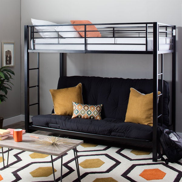 Shop Taylor   Olive Tussock Black Steel Bunk Bed and Futon - On Sale ... ba38672bc8