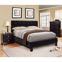Silver Orchid Heston Tufted Leatherette Full-size Platform Bed