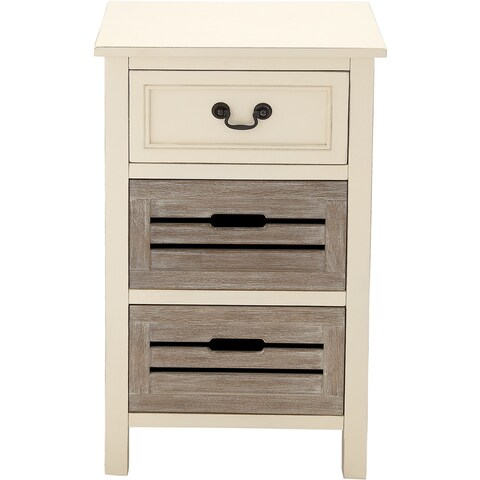 The Gray Barn Miranda 3-drawer Solid Wood Two-tone Nightstand