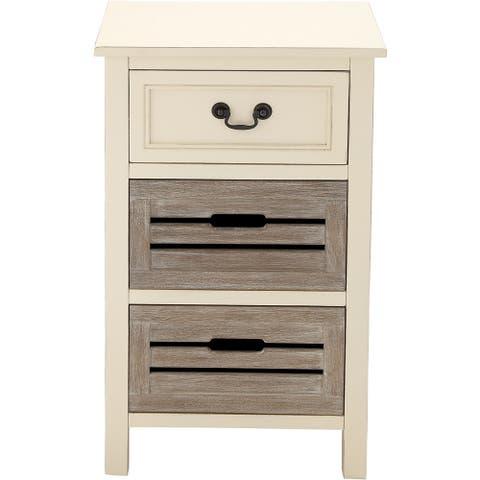 The Gray Barn Miranda 3-drawer Solid Wood Two-tone Nightstand