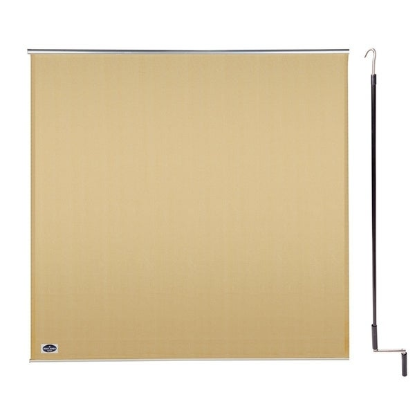Cool Area 6' X 6' Exterior Cordless Roller Shade in Color Desert