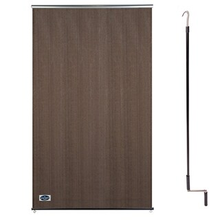Cool Area 4' X 6' Exterior Cordless Roller Shade in Color Brown