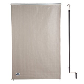 Cool Area 4' X 6' Exterior Cordless Roller Shade in Color Sesame