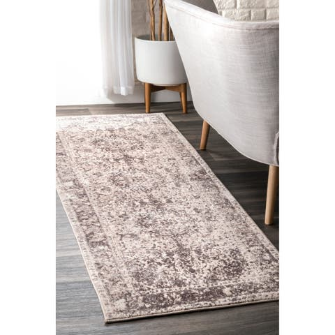 The Gray Barn Rosasharn Beige Vintage Faded Medallion Area Rug