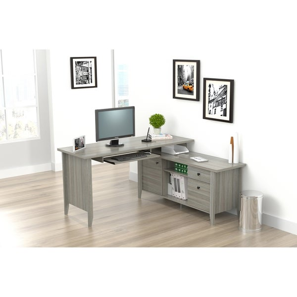 Shop Inval L Shaped Computer Writing Desk - Free Shipping