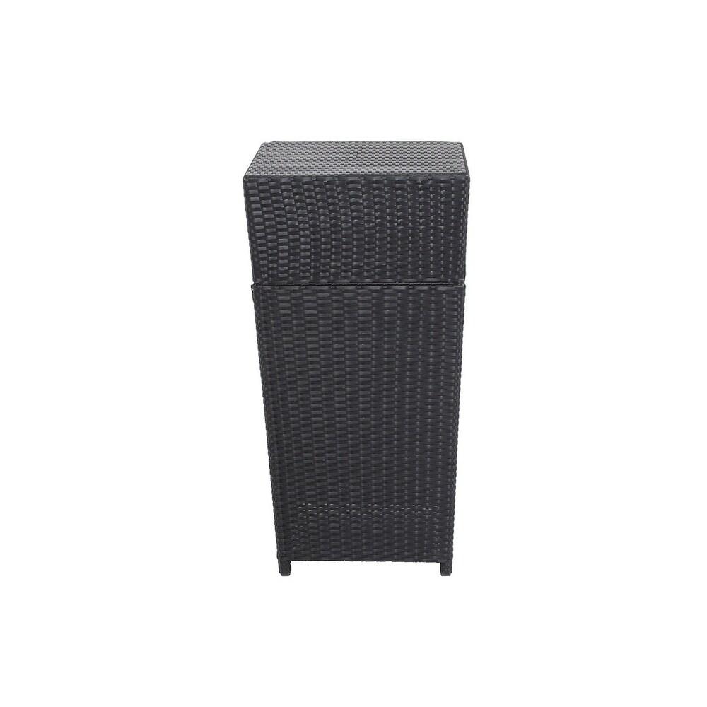 Aluminum Outdoor Trash Can Black