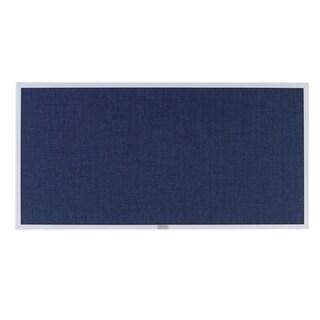 Offex 48x120 Dusk Burlap Traditional Aluminum Trim Bulletin Board