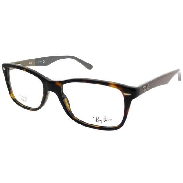 d409ecbbb72 Ray-Ban Rectangle RX 5228 5545 Unisex Black Frame Eyeglasses - Free ...