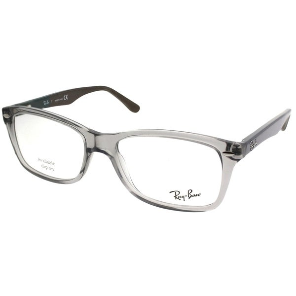 1550fe8ebb Shop Ray-Ban Rectangle RX 5228 5546 Unisex Grey Frame Eyeglasses ...