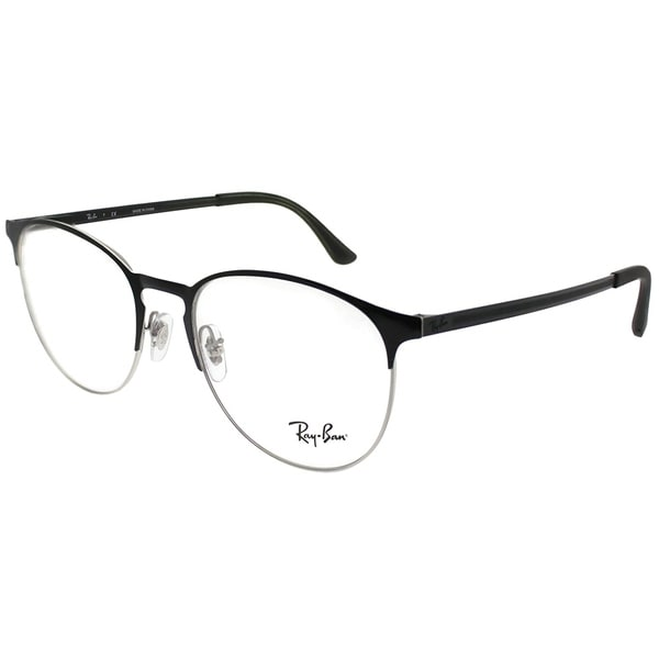 8809e22fac4 Ray-Ban Round RX 6375 2861 Unisex Silver on Black Frame Eyeglasses