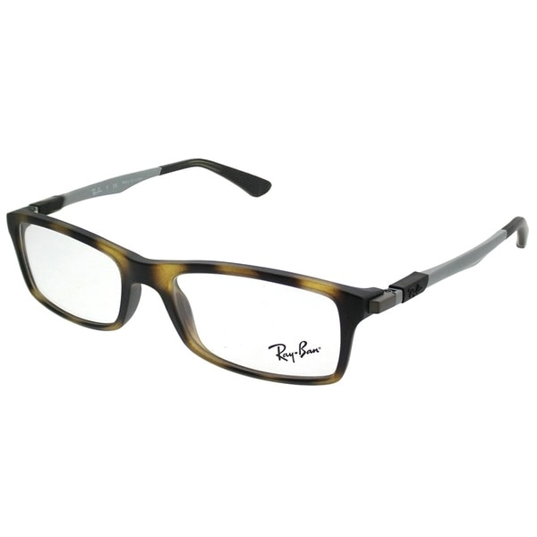 0fb1ffa138 Ray-Ban Rectangle RX 7017 5200 Unisex Matte Havana Frame Eyeglasses