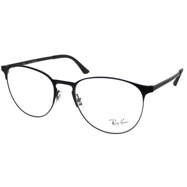 cff22e090b336 Ray-Ban Round RX 6375 2944 Unisex Black on Matte Black Frame Eyeglasses