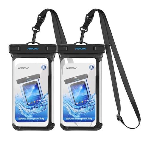 Mpow Waterproof Case Adjustable Lanyard Universal Phone Bag