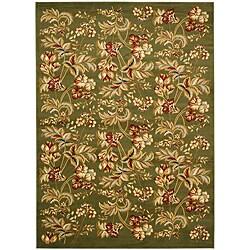Safavieh Lyndhurst Collection Floral Sage Rug (5'3 x 7'6)