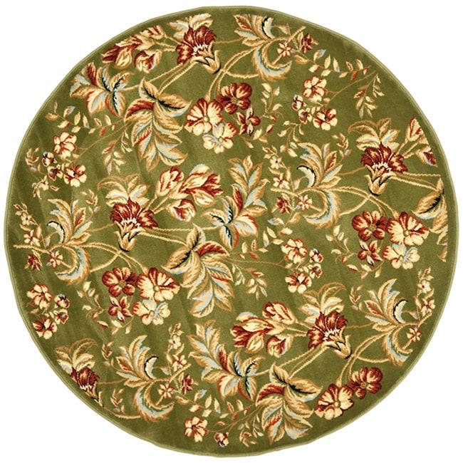 Safavieh Lyndhurst Traditional Floral Sage Rug (8' Round)