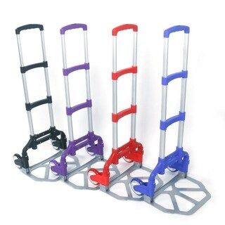 Portable Folding 150 lb Capacity Aluminum Folding Hand Truck Trolley