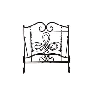 Link to Benzara Scroll Work Design Metal Cook Book Stand, Copper Black Similar Items in Kitchen Storage