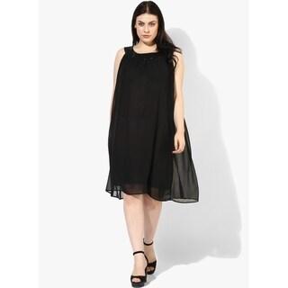 Qurvii Swing Dress with Embellished neck Yoke