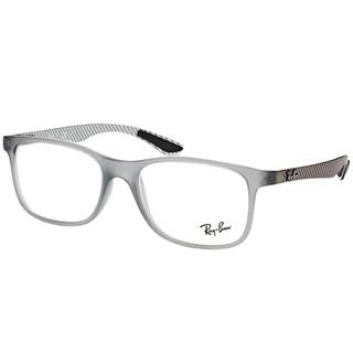 e6a0a0395a3 Ray-Ban Rectangle RX 8903 5244 Unisex Matte Transparent Grey Frame  Eyeglasses