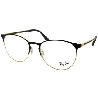 Ray-Ban Round RX 6375 2890 Unisex Gold on Black Frame Eyeglasses