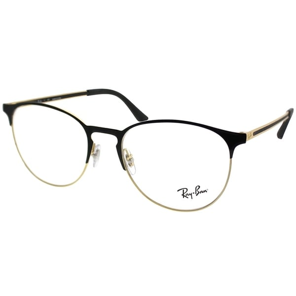 d52ac15157 Ray-Ban Round RX 6375 2890 Unisex Gold on Black Frame Eyeglasses