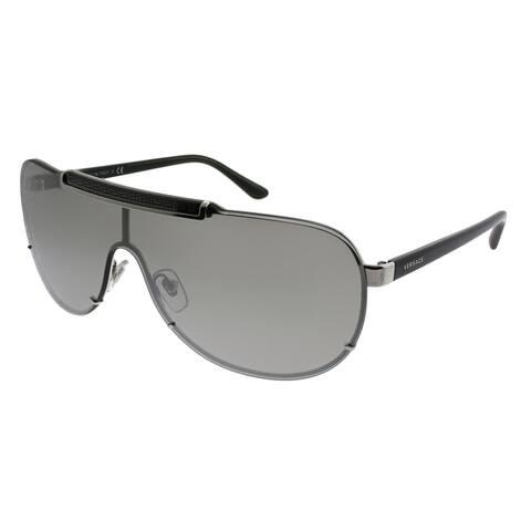 cc6fb75fa Versace Shield VE 2140 10006G Unisex Silver Frame Silver Mirror Lens  Sunglasses
