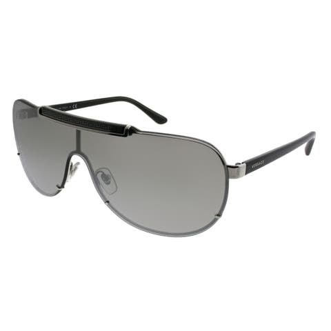 Versace Shield VE 2140 10006G Unisex Silver Frame Silver Mirror Lens Sunglasses