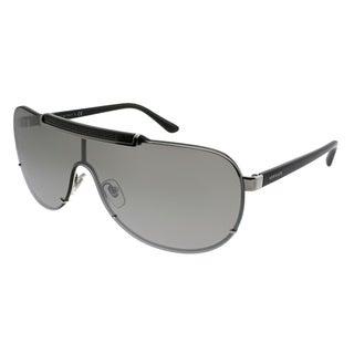 Versace Shield VE 2140 10006G Unisex Silver Frame Silver Mirror Lens Sunglasses
