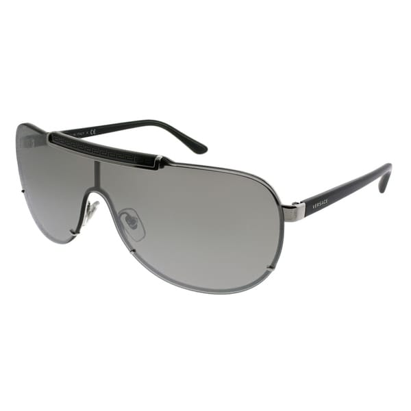 608d93b7935 Versace Shield VE 2140 10006G Unisex Silver Frame Silver Mirror Lens  Sunglasses