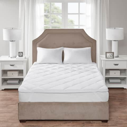 Sleep Philosophy Cooling and Warm White Reversible Mattress Pad