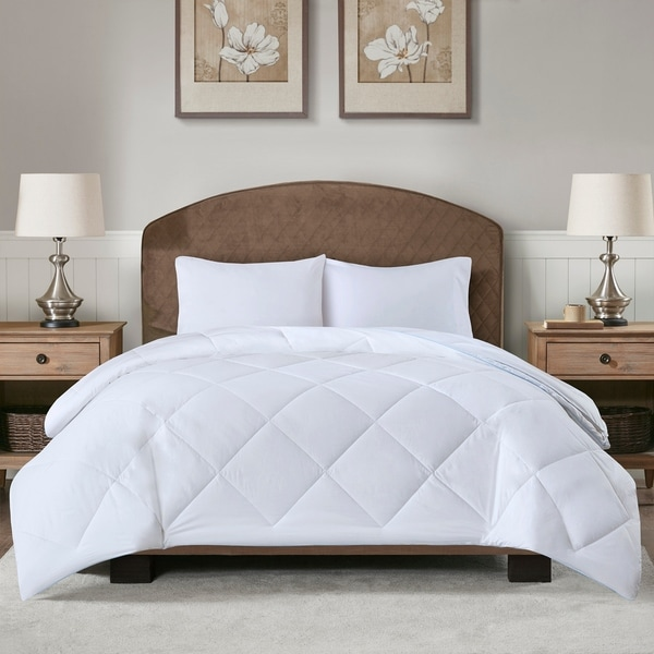Sleep Philosophy Cooling and Warm White Reversible Down Alternative Comforter
