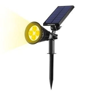 VicTsing Solar Spotlights 4 LED Landscape Solar Lights Wall Light - Black