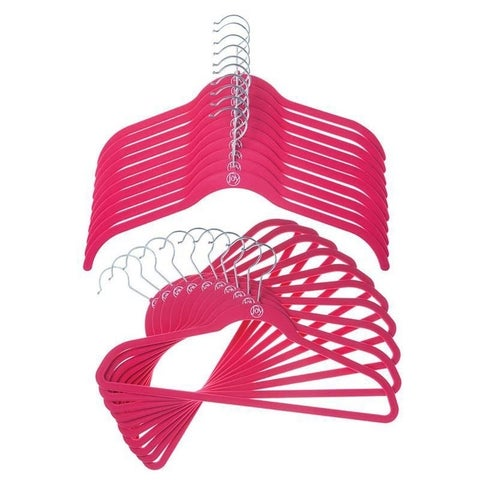Joy Mangano 24 Pk Suit/Shirt Huggable Hangers, Fucshia