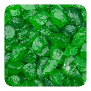Sandtastik Colored Ice Real Glass Gems, Scatters 1.5 Pint (2 lb) 4 - 10 mm - Green