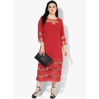 Qurvii Chiffon Mesh Stripe Maxi dress.
