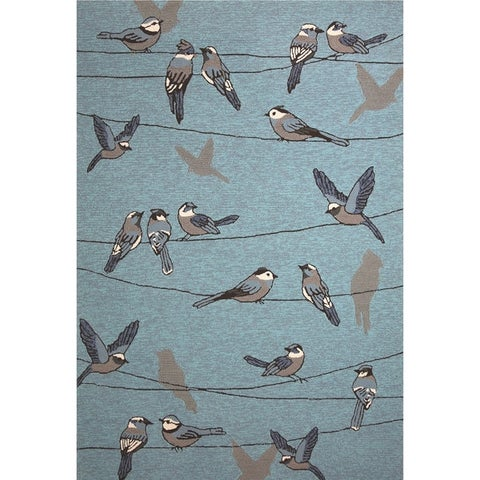 KAS Harbor Birds On A Wire Rug