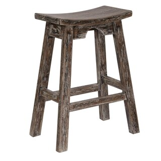 OSP Designs 26 inch Saddle Stool with Washed and Rustic Finish