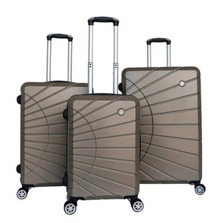RivoLite Hardside Spinner Luggage Set with Lock (3-Piece) gold