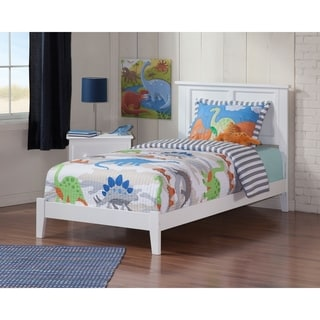 Madison Twin Traditional Bed in White