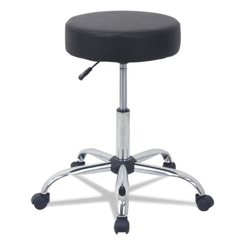 Alera Height Adjustable Black Lab Stool, PU